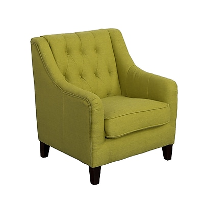 CorLiving Dana Diamond Tufted Fabric Accent Chair, Green (LZY-642-C)