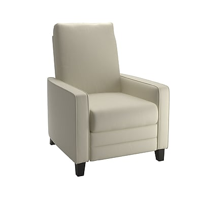 CorLiving Kelsey Bonded Leather Recliner, Cream (LZY-483-R)