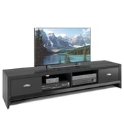 "CorLiving Lakewood Extra Wide TV Bench for up to 80"" TVs, Black Wood Grain Finish (TLK-802-B)"