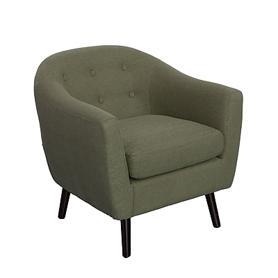 CorLiving Oliver Fabric Barrel Chair, Greenish-Grey (LZY-732-C)