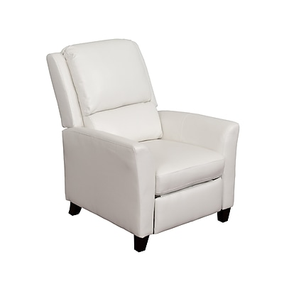 CorLiving Kate Bonded Leather Recliner, White (LZY-513-R)