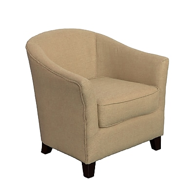 CorLiving Shirley Fabric Contemporary Tub Chair, Beige (LZY-768-C)