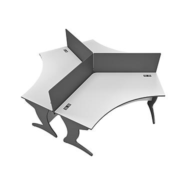 CorLiving Workspace 6pc Tri-pod Desk Set, Two-Tone Grey (WHP-100-Z)