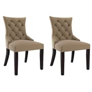 CorLiving Antonio Fabric Accent Chair, Beige - set of 2 (LAD-460-C)