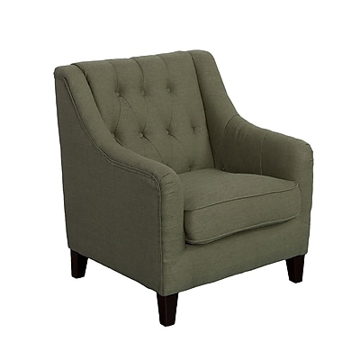 CorLiving Dana Diamond Tufted Fabric Accent Chair, Greenish-Grey (LZY-632-C)