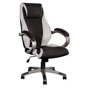CorLiving WHL-302-C BIFMA Workspace Mesh Fabric Managerial Office Chair, Black and Grey