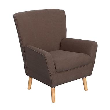 CorLiving Demi Fabric Club Chair, Brown (LZY-796-C)