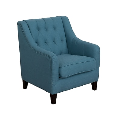 CorLiving Dana Diamond Tufted Fabric Accent Chair, Blue (LZY-622-C)