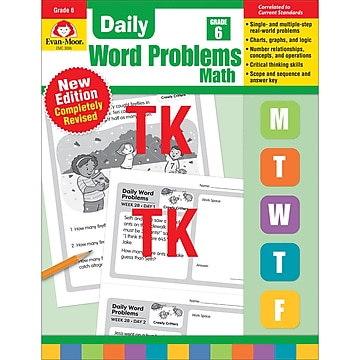 ISBN 9781629388601 product image for Daily Word Problems Math, Grade 6, Paperback (9781629388601),Size: med | upcitemdb.com