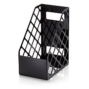 Officemate Recycled Plastic Large Magazine File, Black