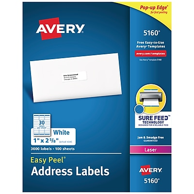 graphic about Printable Labels Staples named Avery Straightforward Peel Laser Include Labels, 1\