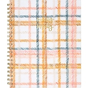 """2020 One Canoe Two for AT-A-GLANCE 8-1/2"""" x 11"""" Weekly/Monthly Planner, Goldenrod Plaid (1360-905-20)"""