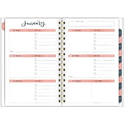 "2020 One Canoe Two for AT-A-GLANCE 5-1/2"" x 8-1/2"" Customizable Weekly/Monthly Planner, Meadow (1361-201-20)"
