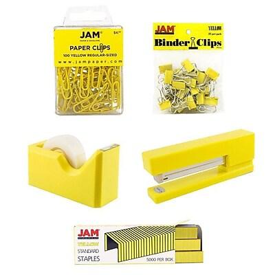 JAM Paper® Office Starter Desk Kit, Yellow, 5/pack (338756ye)