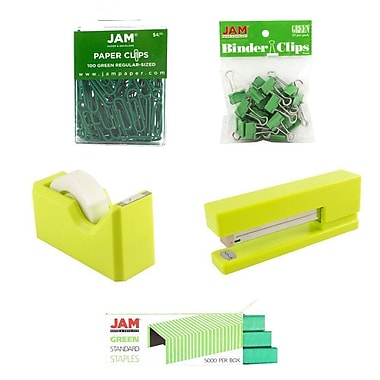 JAM Paper® Office Starter Desk Kit, Green, 5/pack (338756gr)