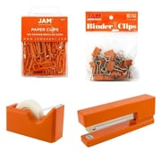 JAM Paper® Office Starter Desk Kit, Orange, 4/pack (338756or)