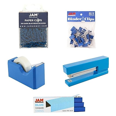 1 Paper Clips Purple - 1 Rubber Bands Colored Staples Binder Clips 4//Pack JAM PAPER Desk Supply Assortment 1 1