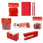 JAM Paper® Complete Desk Kit, Red, 8/pack (338756Cre)