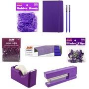 JAM Paper® Complete Desk Kit, Purple, 8/pack (338756Cpu)