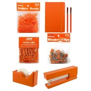 JAM Paper® Complete Desk Kit, Orange, 7/pack (338756Cor)