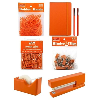 JAM Paper® Complete Desk Kit, Orange, 7/pack (338756Cor)