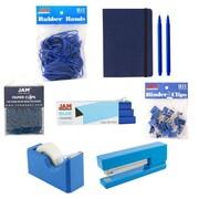 JAM Paper® Complete Desk Kit, Blue, 8/pack (338756Cbl)