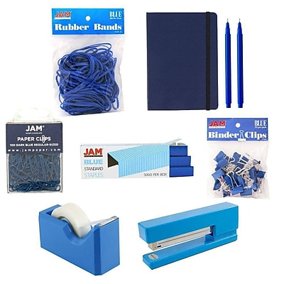 JAM Paper® Complete Desk Kit, Blue, 8/pack (338756Cbl)