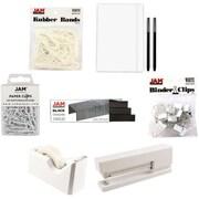 JAM Paper® Complete Desk Kit, White, 7/pack (338756Cwh)