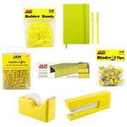 JAM Paper® Complete Desk Kit, Yellow, 8/pack (338756Cye)
