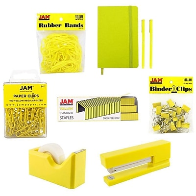 JAM Paper® Complete Desk Kit, Yellow, 8/pack (338756Cye)