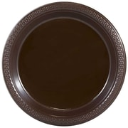 JAM Paper® Round Plastic Plates, Small, 7 inch, Chocolate Brown, 200/box (7255320676b)