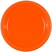 JAM Paper® Round Plastic Plates, Medium, 9 inch, Orange, 200/box (9255320687b)