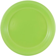JAM Paper® Round Plastic Plates, Medium, 9 inch, Lime Green, 200/box (9255320685b)