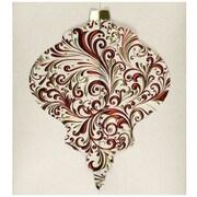 JAM Paper® Christmas Holiday Card Set, Ornament Gatefold, 25/pack (526E1231WB)