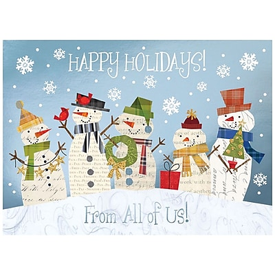 JAM Paper® Christmas Holiday Card Set, From All of Us, 25/pack (526M1012WB)