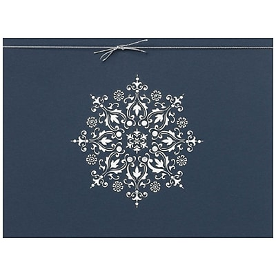 JAM Paper® Christmas Holiday Card Set, Laser Cut Snowflake, 25/pack (526M1301WB)
