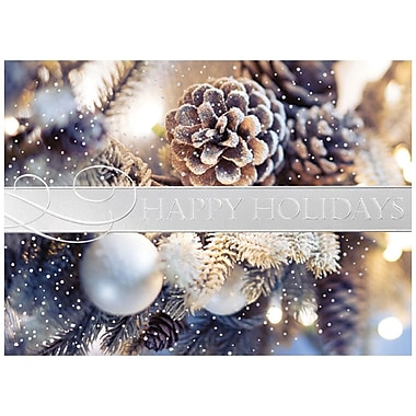 JAM Paper® Christmas Holiday Card Set, Holiday Greens, 25/pack (526M1145WB)
