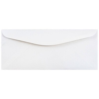 JAM Paper® #12 Business Commercial Envelopes, 4.75 x 11, White, 250/box (45195c)