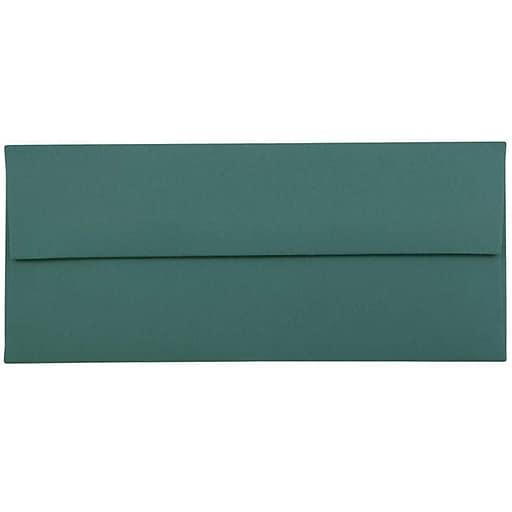 JAM Paper® #10 Business Envelopes, 4.125 x 9.5, Teal, Bulk 500/Box (63924024h)