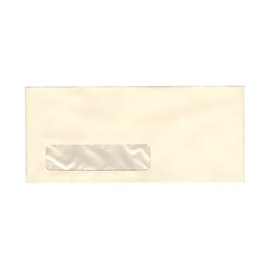 JAM Paper® #10 Window Business Envelopes, 4.125 x 9.5, Strathmore Ivory Wove, 500/box (21917040c)