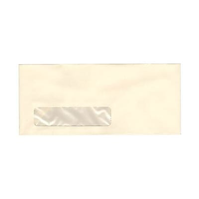 JAM Paper® #10 Window Business Envelopes, 4.125 x 9.5, Strathmore Ivory Wove, 25/pack (21917040)