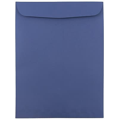 JAM Paper® 9 x 12 Open End Catalog Envelopes, Presidential Blue, 100/pack (263917110f)