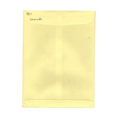 JAM Paper® 9 x 12 Open End Catalog Envelopes, Light Yellow, 100/pack (512816066f)