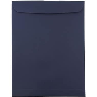 JAM Paper® 10 x 13 Open End Catalog Envelopes with Gum Closure, Navy Blue, 25/Pack