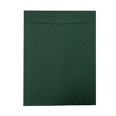JAM Paper® 10 x 13 Open End Catalog Envelopes, Dark Green, 25/pack (31287538)