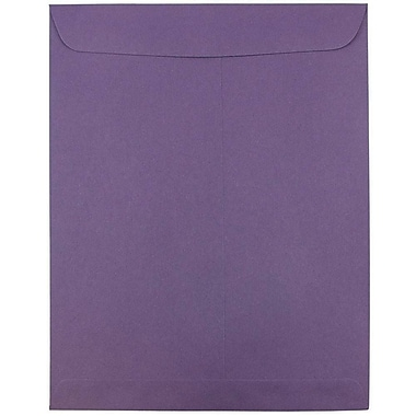 JAM Paper® 10 x 13 Open End Catalog Envelopes with Gum Closure, Dark Purple, 50/pack (1287032i)