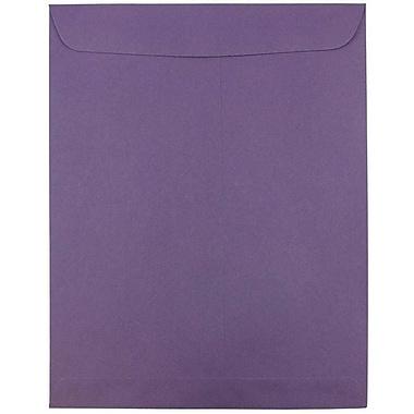 JAM Paper® 10 x 13 Open End Catalog Envelopes with Gum Closure, Dark Purple, 25/Pack (1287032A)