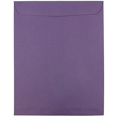 JAM Paper® 10 x 13 Open End Catalog Envelopes with Gum Closure, Dark Purple, 25/pack (1287032a)