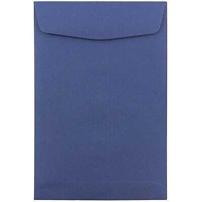 JAM Paper® 6 x 9 Open End Envelopes, Presidential Blue, 100/pack (363913003f)