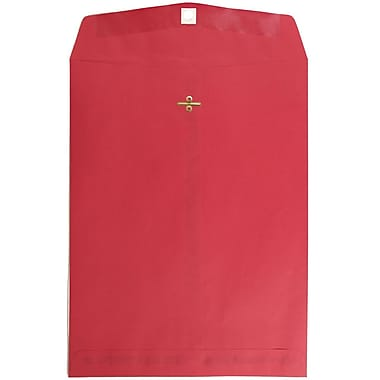 JAM Paper® 10 x 13 Open End Catalog Envelopes with Clasp Closure, Red Recycled, 25/pack (87477a)